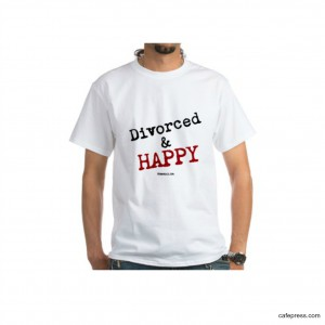 divorced and happy tshirt