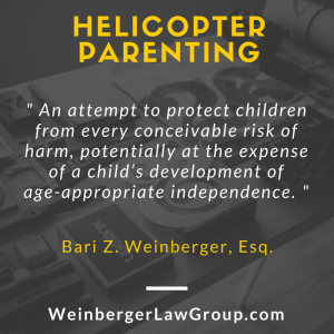 Helicopter parenting definition