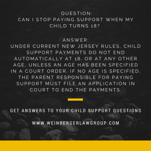 child support questions