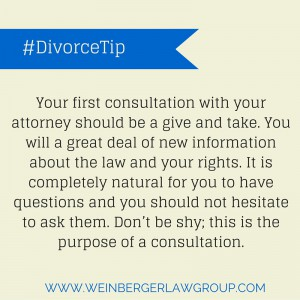 preparing for your divorce consultation