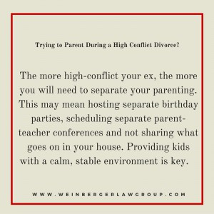 high conflict parenting
