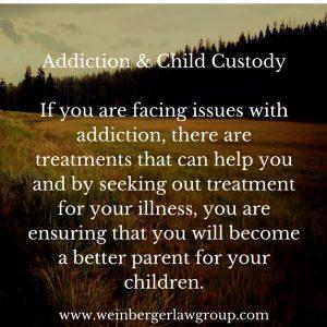 addiction & child custody