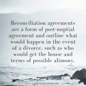 reconciliation agreeement